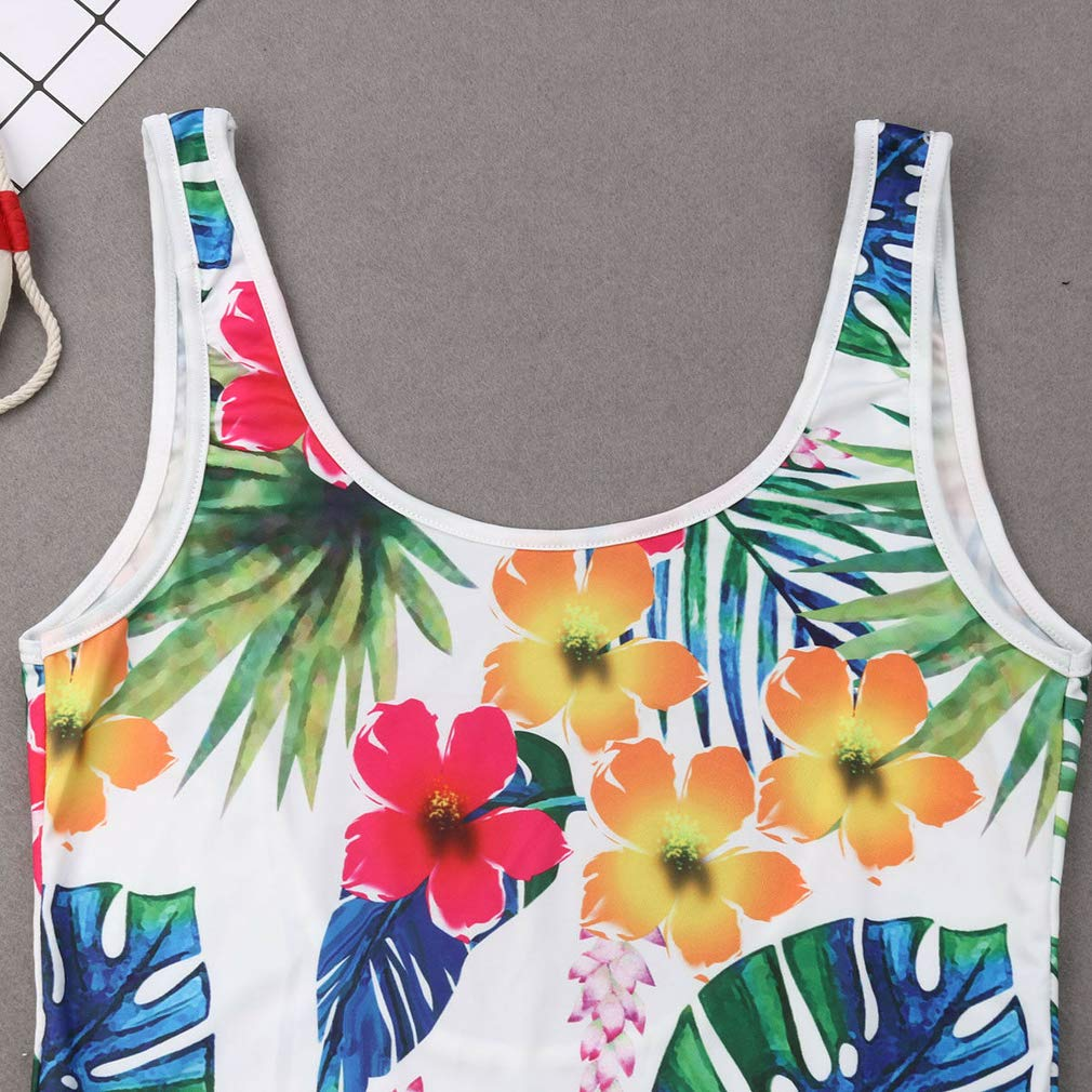 Mother Girl Swimwear Mommy and Me Swimsuit Family Matching Floral One Piece Beach Wear Bathing Suit