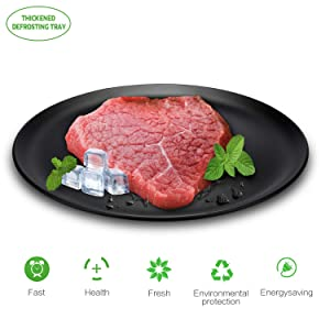 RWHUAYI Defrosting Tray, Thawing Plate, for Fast Defrosting of Frozen Foods Such as Chicken, Meat, Fish,Prawns,Bacon, The Safest No Electricity, No Chemicals, No Microwave. Maintains Food Nutrients