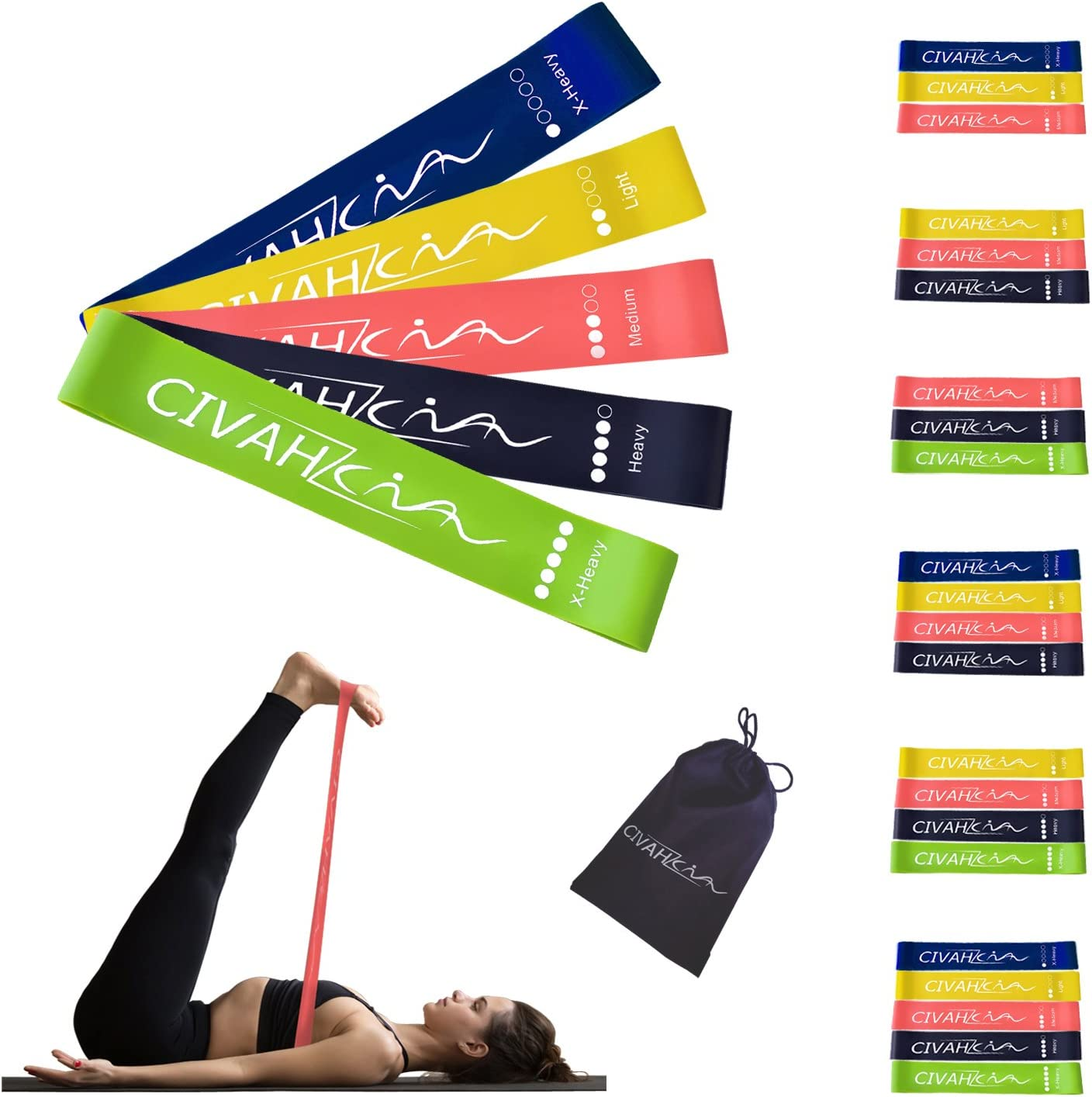 Healthy Sport Elastic Yoga Stretch Resistance Exercise Fitness Band Strips Belts