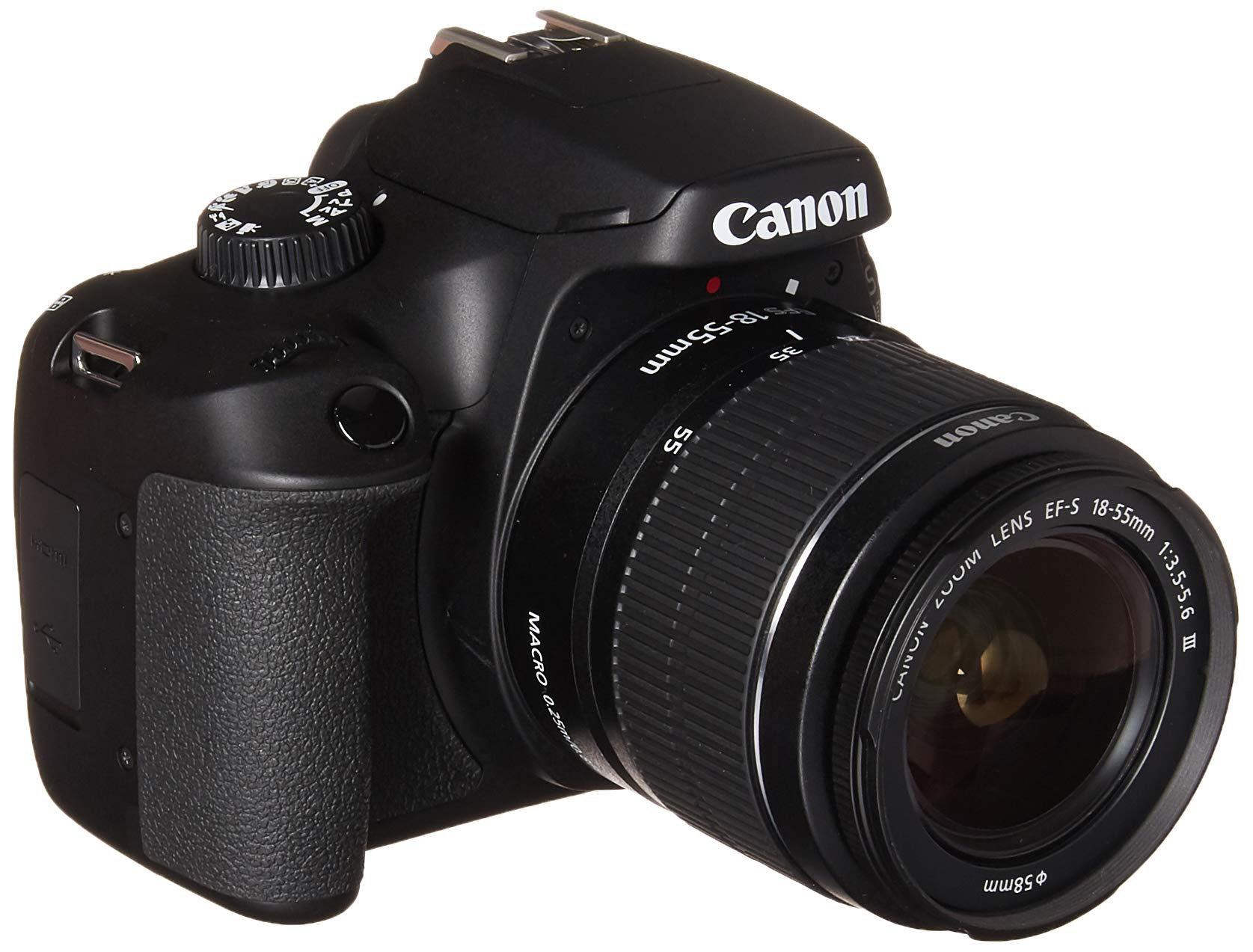Canon EOS 4000D DSLR Camera EF-S 18-55 mm f/3.5-5.6 III Lens International Model by Canon