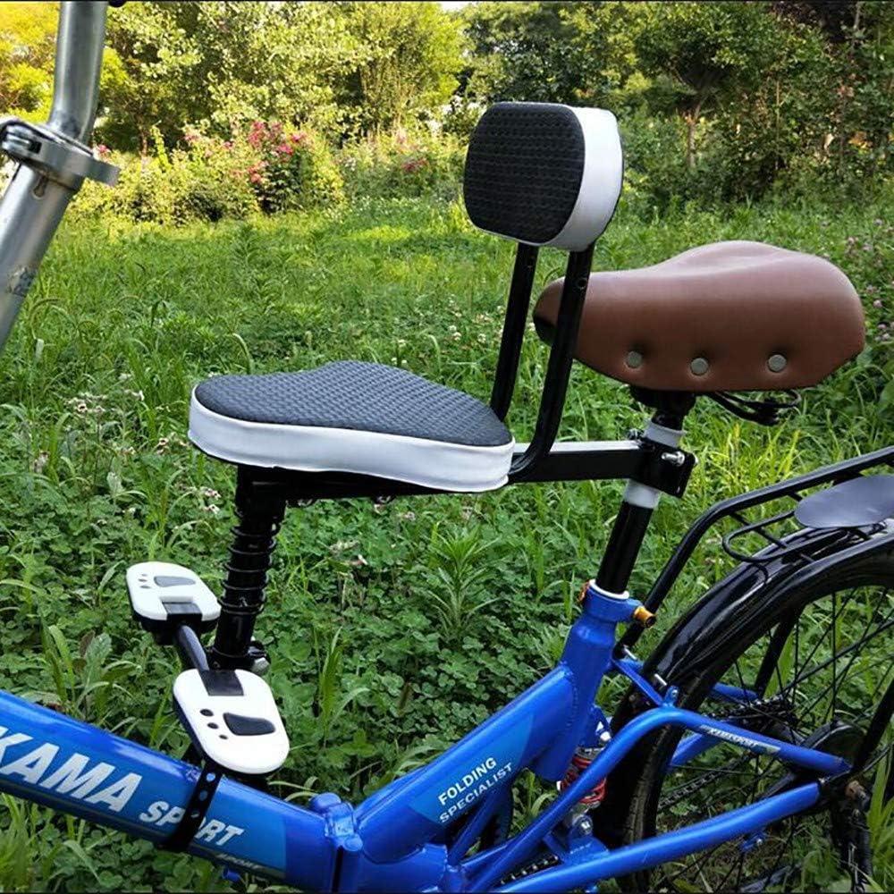 FHGH Silla Bicicleta NiñO,Asientos para Bicicleta NiñO Asiento Infantil Bicicleta Asiento Seguridad Delantero Bebé Coche EléCtrico Asiento Plegable Bicicleta con Circunferencia Completa