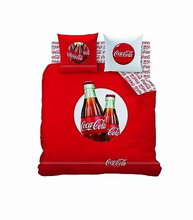 cti 39850 coca cola cool - set copripiumino matrimoniale 240 x 220 ... - Copripiumino Matrimoniale Xl