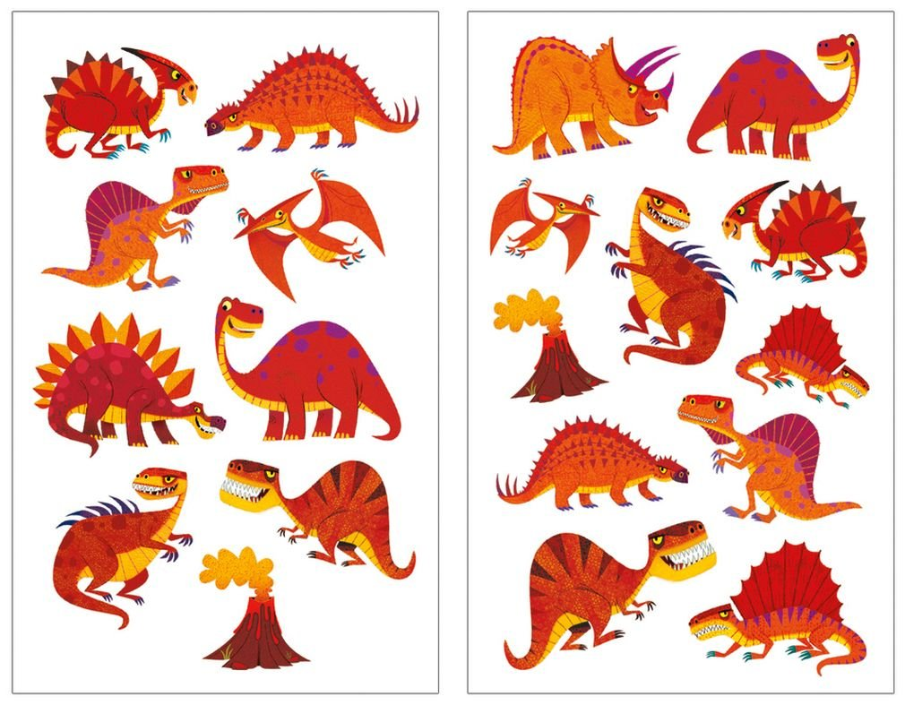 Peaceable Kingdom Scratch and Sniff Red Hot Dinos Cinnamon Scented Sticker Pack Mindware
