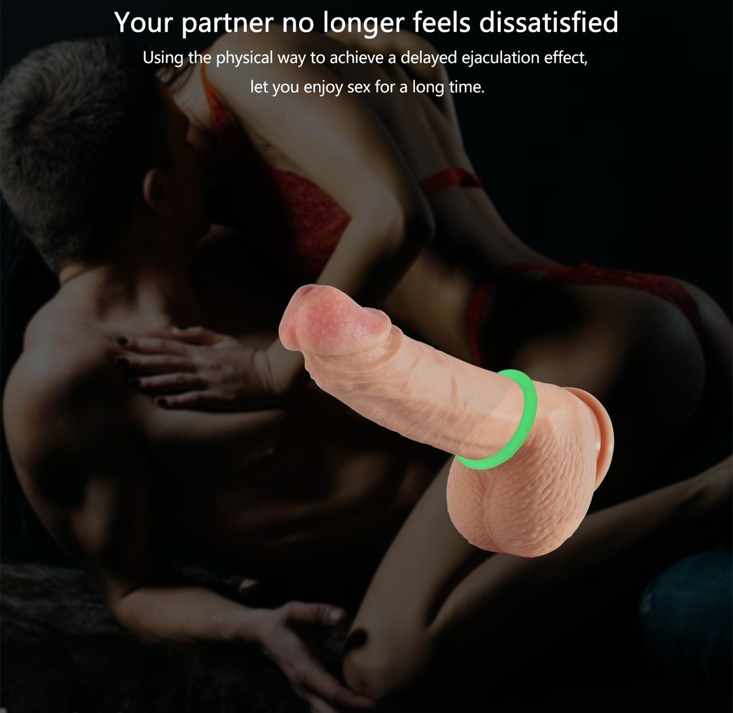 Cock Ring, Xocity, Silicone Penis Rings, Noctilucous Type Cockring Sex Toys for Men and Couples, 3 Pack