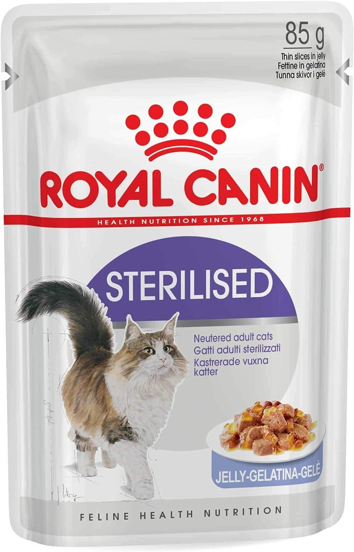 ROYAL CANIN Sterilised Comida Gatos - Paquete de 12 x 85 gr - Total: 1020 gr