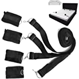 NALITARE Adjustable Under the Bed Restraints Straps Hand Leg Supports Exercise Bands for Couples- Can used on ANY Bed