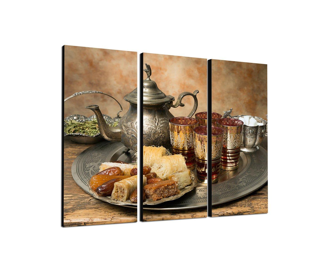 Amazon.de: Teezeit in Marokko 3x40x90cm dreiteiliges Wandbild auf ...