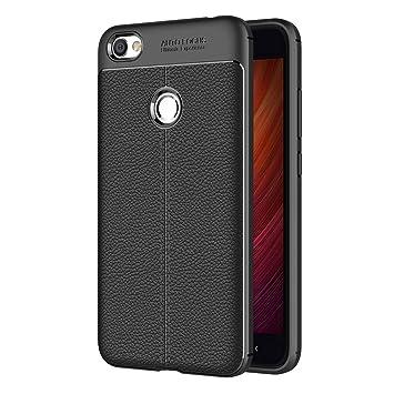 AICEK Funda Xiaomi Redmi Note 5A / Note 5A Prime, Xiaomi Redmi Note 5A Funda Negro Gel de Silicona Redmi Note 5A Prime Carcasa Funda (5,5 Pulgadas)