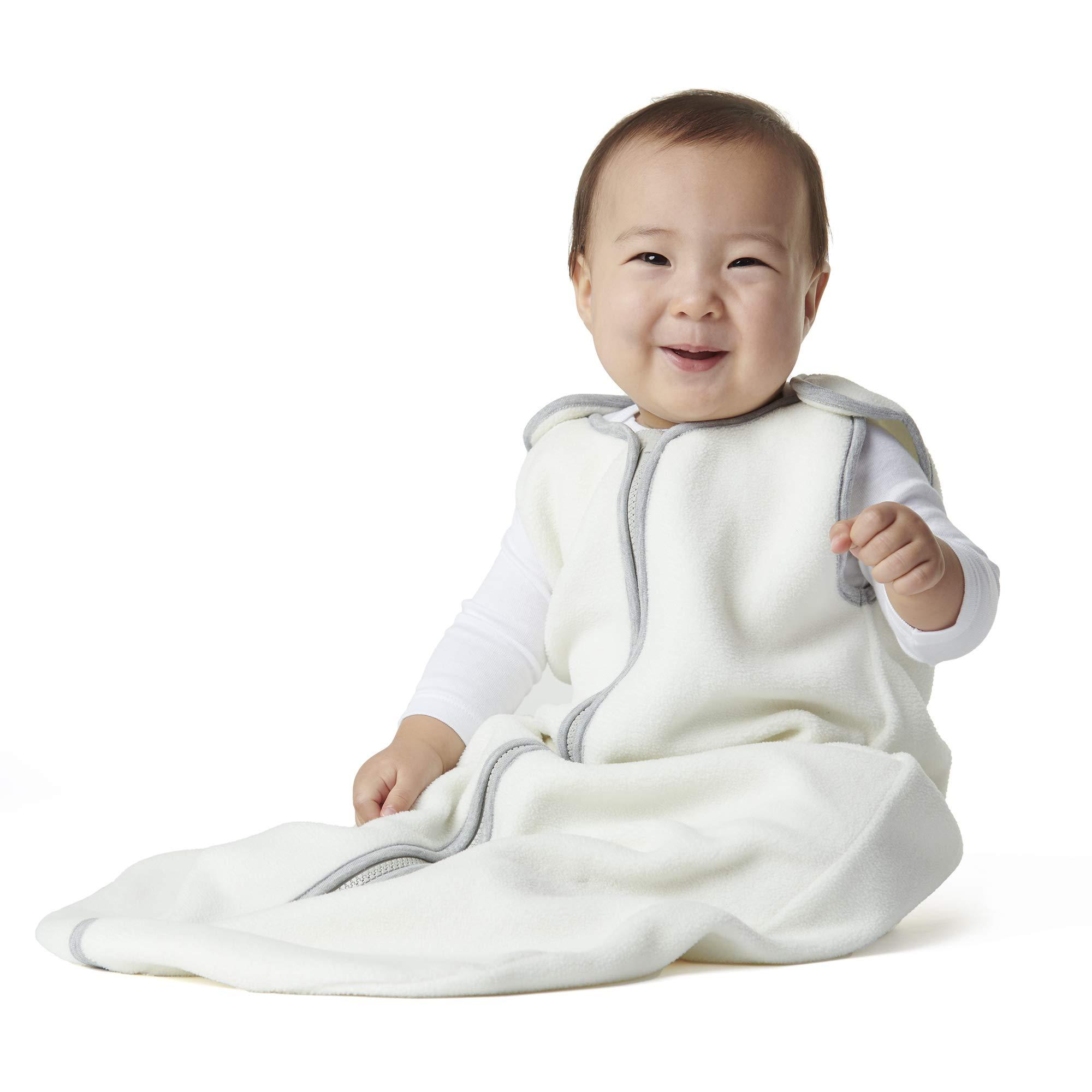 baby deedee Sleep Nest Fleece Baby Sleeping Bag, Ivory, 6-18 Month