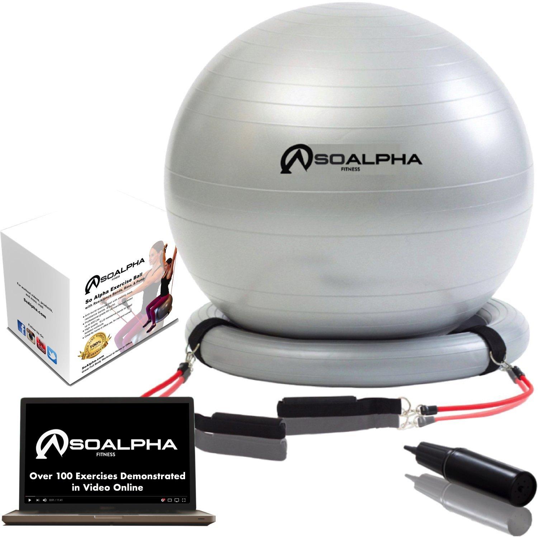 Amazon So Alpha Premium Exercise Ball with 15LB Resistance