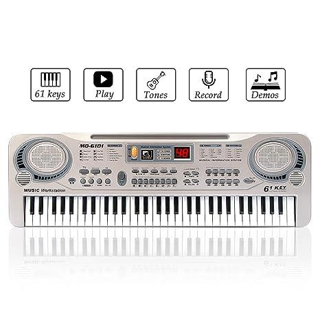 JINRUCHE Kids Piano, multifunción 61 Mini-Keys Electronic Organ Kids Musical Teaching Keyboard Piano