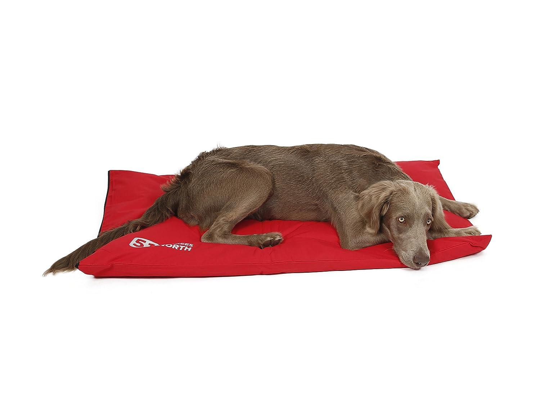 punto vendita 51 Degrees North cuscino cuscino cuscino per cani, Media e Grande Cani, Auto, Letto, Cuscino Bench, Storm Collection, impermeabile impermeabile impermeabile lavabile, Rosso Fire Red, Large  88 x 55 cm  costo effettivo