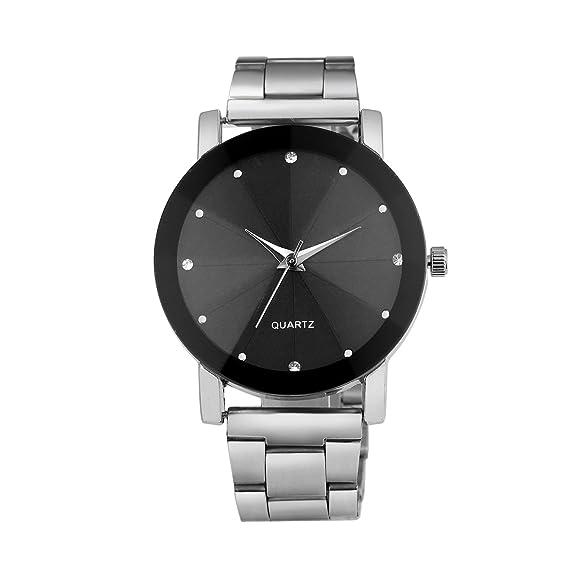 b4685df42bdf JiaMeng Reloj con Movimiento Cuarzo japonés de Pulsera de Cuarzo analógico  de Lujo de los Hombres