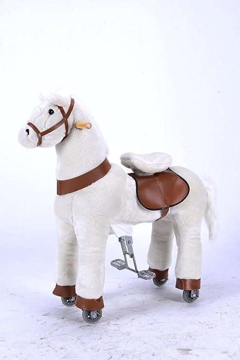 Nuevo bebé niño niños adolescentes blanco Clip Clop Pony – Caballo con modo balancín o con