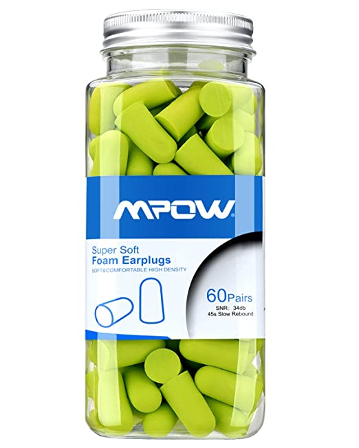 best earplugs for sleeping - Mpow Foam Earplugs