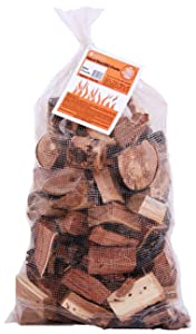 Camerons Products Smoking Wood Chunks (Mesquite)- Kiln Dried BBQ Large Cut Chips- All Natural Barbecue Smoker Chunks- 10 Pound Bag