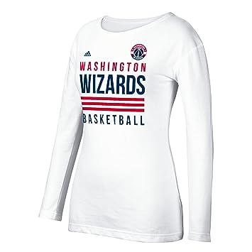 Adidas NBA Pila de 3 Rayas de Las Mujeres Camiseta de Manga Larga, Mujer,