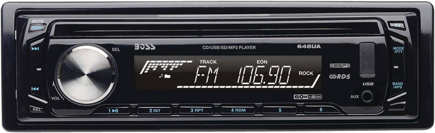 [SCHEMATICS_48EU]  Amazon.com: BOSS Audio Systems 648UA Single-DIN MP3 Player Receiver: Car  Electronics | Boss Audio 648ua Wiring Harness |  | Amazon.com
