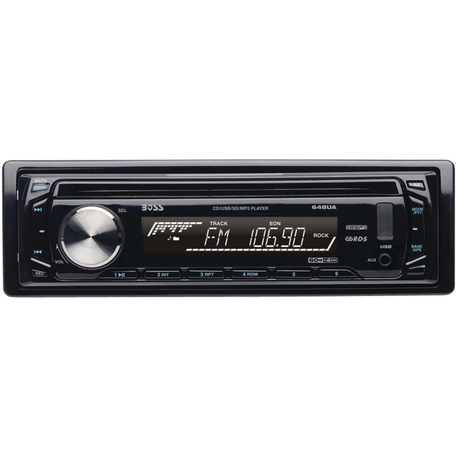 amazon com: boss audio 648ua single-din mp3 player receiver: car electronics