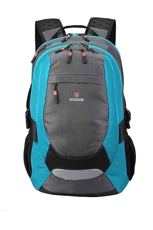 59bfe40ac3eea Ruigor Active 29 Blau - Robuster Trekking Rucksack Wasserabweisender Outdoor  Rucksack 28l Laptop Tasche 15.6 Zoll