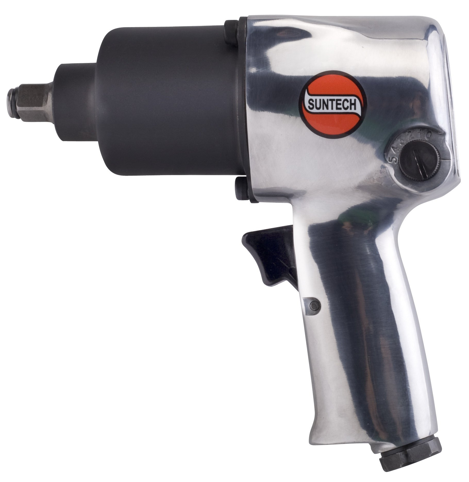 SUNTECH SM-43-231F Air Impact Wrench with Front Exhaust, Silver, 1/2''