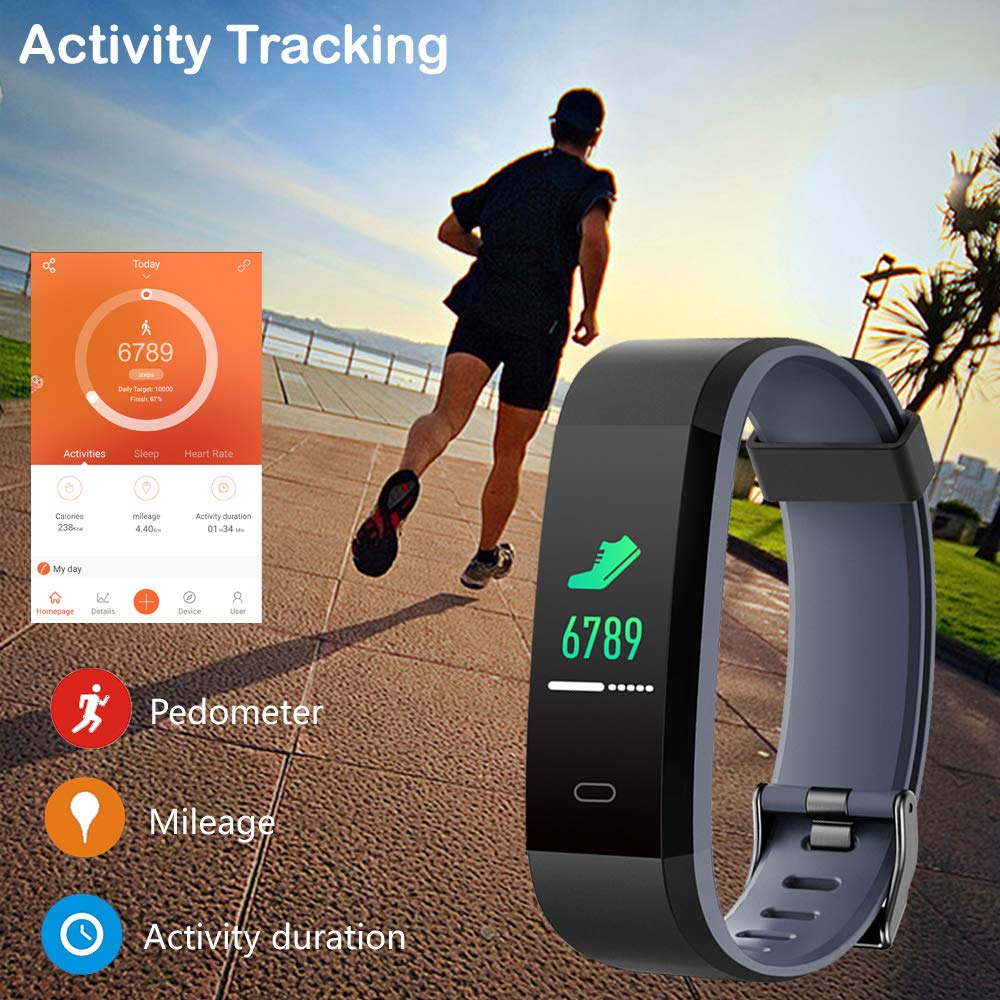 Willful Fitness Tracker Heart Rate Monitor Color Screen,IP68 Waterproof Activity Tracker 14 Modes Sport Smart Watch with Pedometer Step Calorie Counter Sleep Tracker,Fitness Watch for Women Men Kids