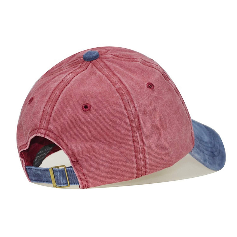 Summer Streetwear Baseball Cap Dad Hat Hip Hop Vintage Solid Cotton Patchwork Face Caps