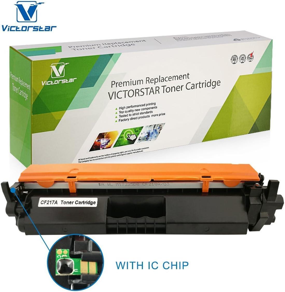 VICTORSTAR Cartucho de Tóner Compatible CF217A (17A) Negro con ...