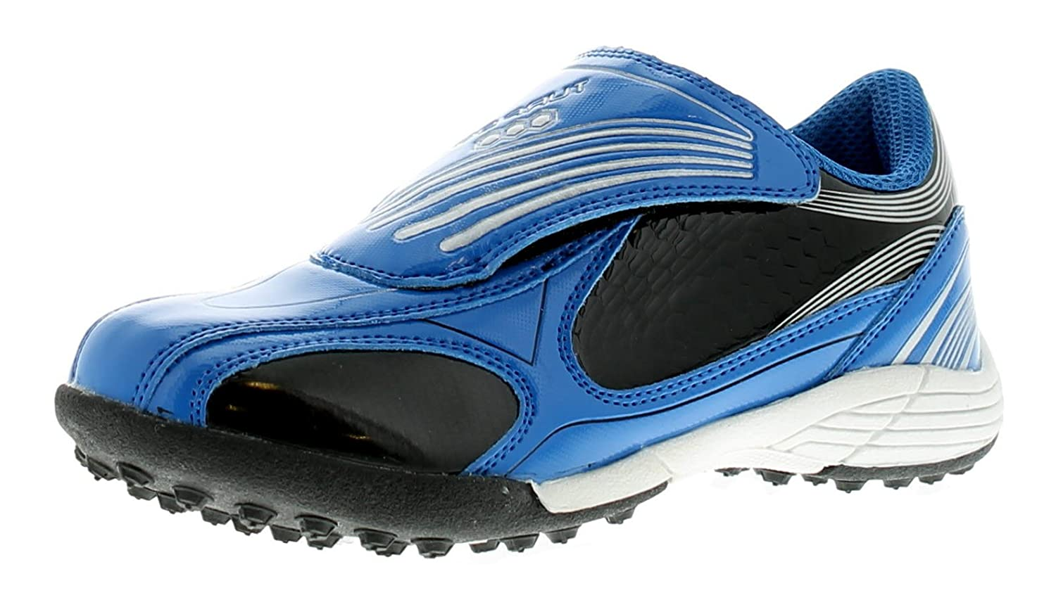 Childrens/Boys Blue Touch Fastening Astro Turf/Football Trainers - Navy/Silver - UK SIZES 1-13 Turf 90
