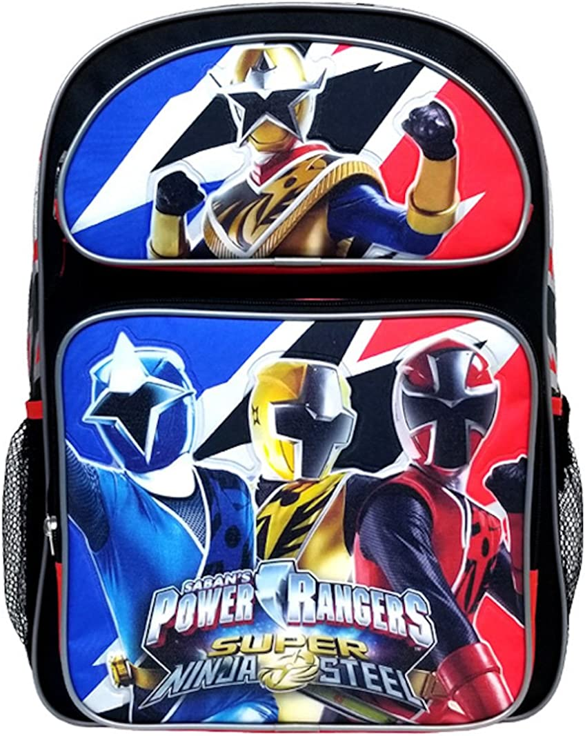 Sabans Power Rangers 16 inch Backpack with Side Mesh Pockets