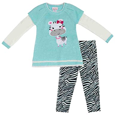 f47b2015c170 Amazon.com  Little Lass Infant   Toddler Girls 2 Piece Zebra Sweater ...