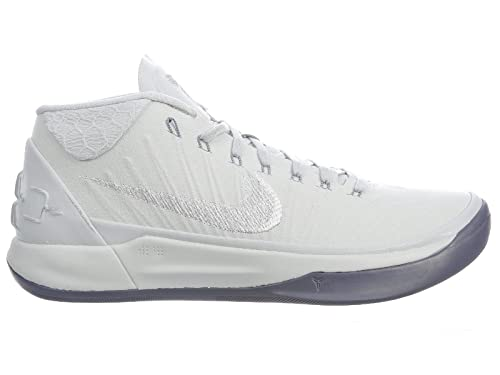 online store d8ddb 0ea2c NIKE Men s Kobe A.D. Pure Platinum White Metallic Silver Nylon Basketball  Shoes 8 D