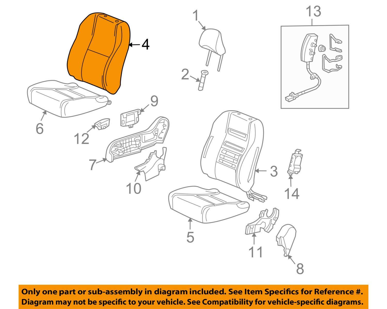 Front Right Honda Genuine 04811-TM8-A70ZA Seat Trim Cover Set