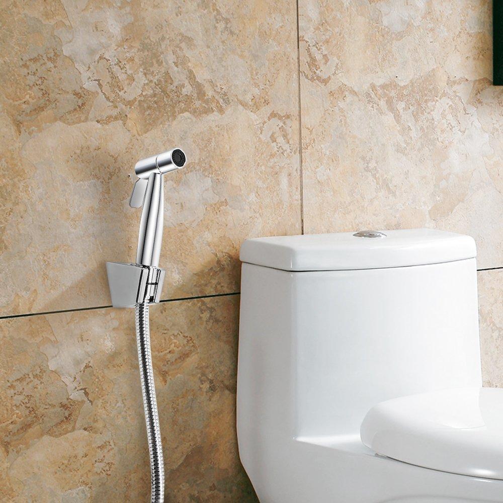 Dreamsbaku Bathroom Bidet Sprayer Spray Toilet Stainless Steel Polish faucet Handheld with Hose and Bracket Holder