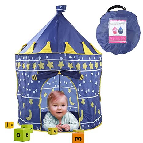 Amazon Com Yesurprise Princess Castle Play Tent Outdoor Play Tents