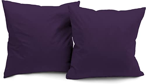 Deluxe Comfort Microsuede Throw Pillows, 16 by 16 , Purple