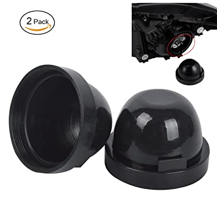 2x Car Headlight Dust Cover Rubber Housing Seal Cap for LED Conversion 100mm