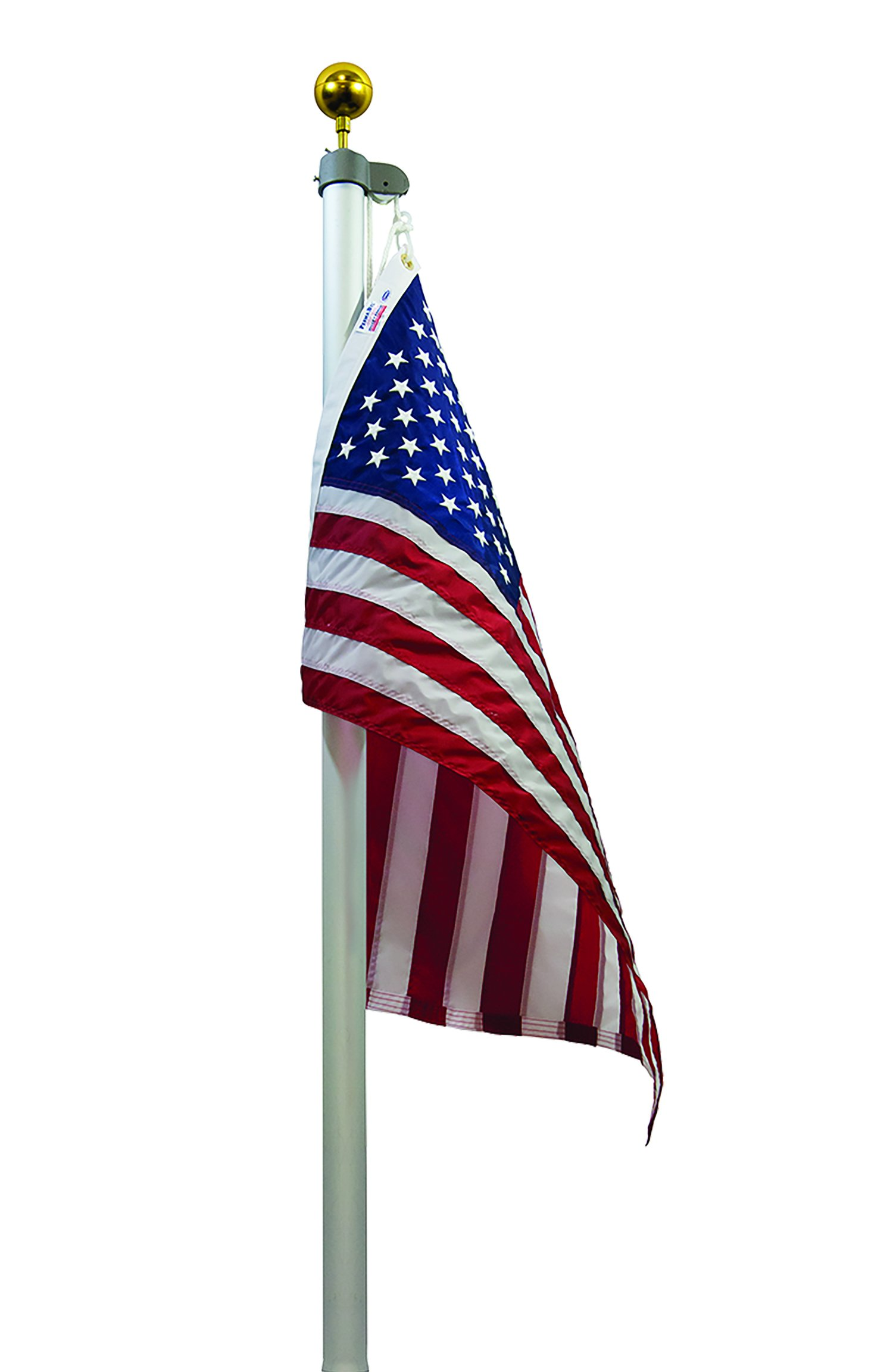 Valley Forge Flag TSRAFP Flag Pole Tapered Sectional in Ground Aluminum Flagpole Set, 20'