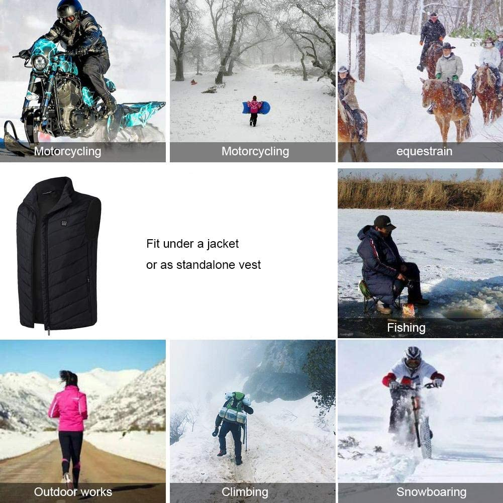Doudoune chauffante /électrique pour enfant rechargeable par USB en coton pour camping et ski dhiver