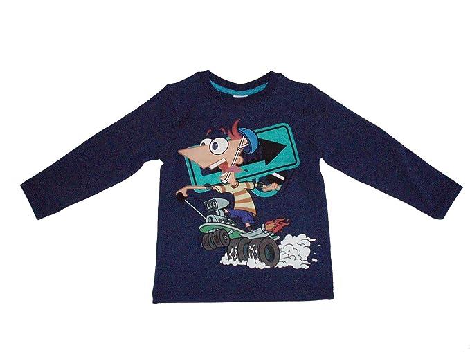 Phineas And Ferb - Blusa - para bebé niña azul 10 años