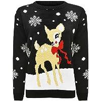 Fashion Valley - Pull fantaisie Noël femme tricoté Rudolph le Renne