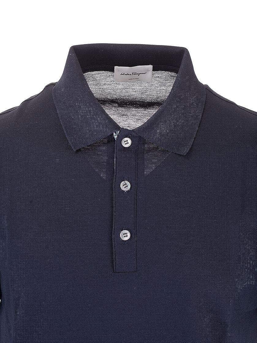 Salvatore Ferragamo Luxury Fashion Hombre 120377 Azul Polo | Otoño ...