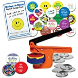 "Badge-A-Minit 100M 2 1/4"" Badge-A-Minit Button Machine Deluxe Starter Kit"