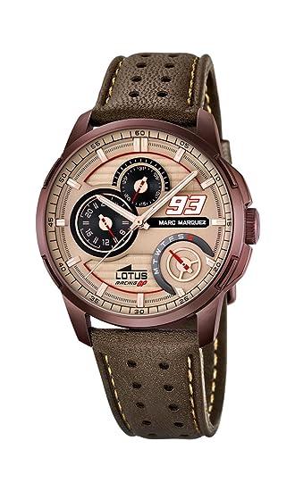 Lotus 18243/2 - Reloj de Pulsera Hombre, Cuero, Color Marrón: Lotus: Amazon.es: Relojes