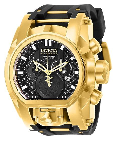 Invicta Reserve Reloj de hombre cuarzo suizo correa de poliuretano 25607   Invicta  Amazon. 6f34a7ed7746