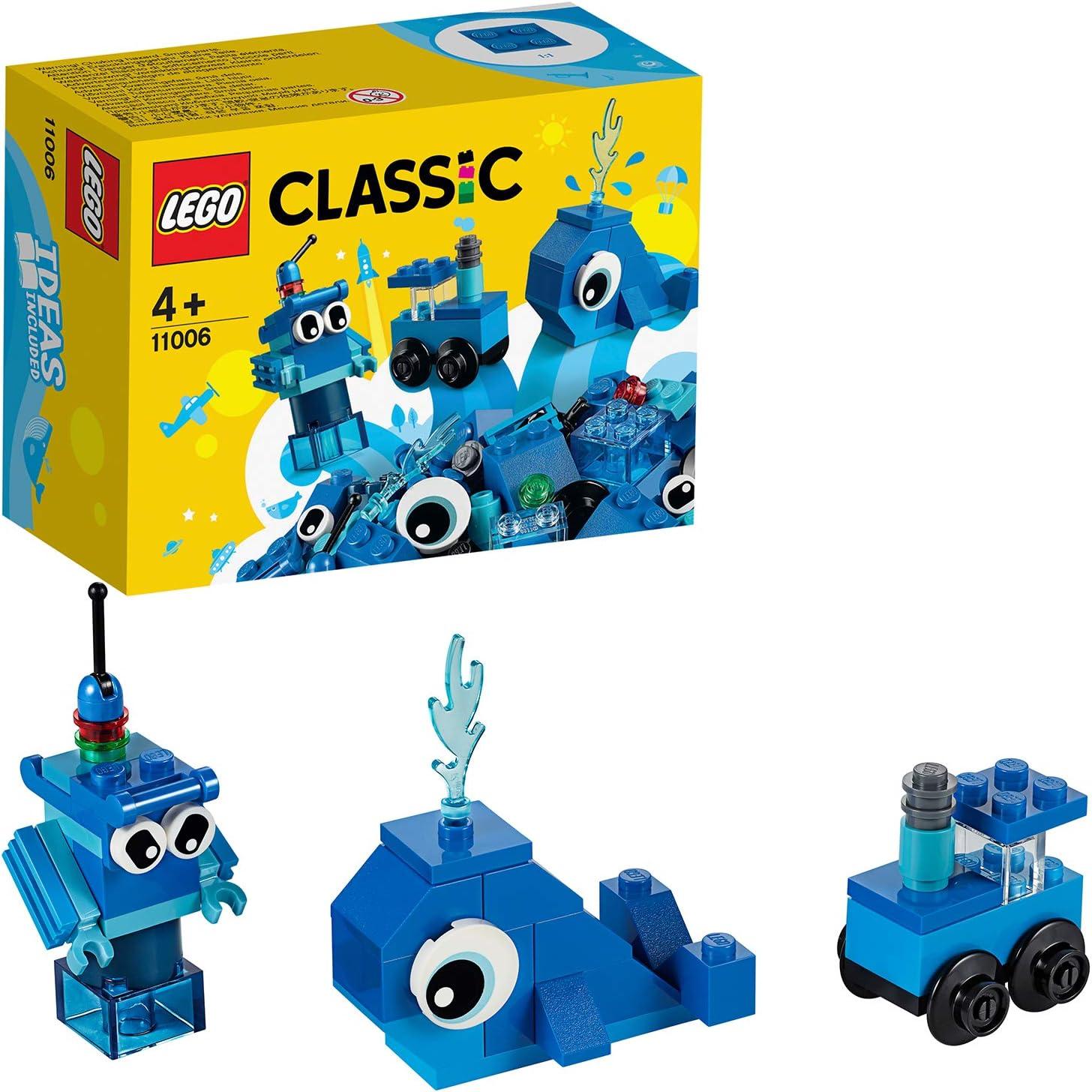 LEGO Classic - Ladrillos Creativos Azules, Juguete de Construcción con Ladrillos de Colores para Desarrollar la Imaginación, Recomendado a Partir de 4 Años (11006) , color/modelo surtido: Amazon.es: Juguetes y juegos