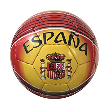 Bandera de España Balón de Fútbol (Tamaño 5): Amazon.es: Deportes ...