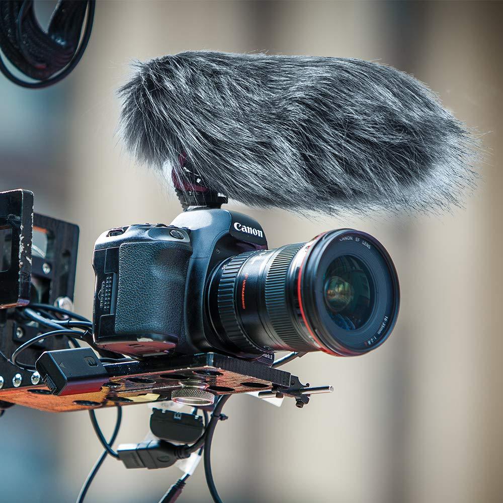 Comica CVM-V30 LITE Video Microphone Super-Cardioid Condenser On-Camera Shotgun Microphone for Canon Nikon Sony Panasonic Camera//DSLR//iPhone Samsung Huawei with 3.5mm Jack(Black)
