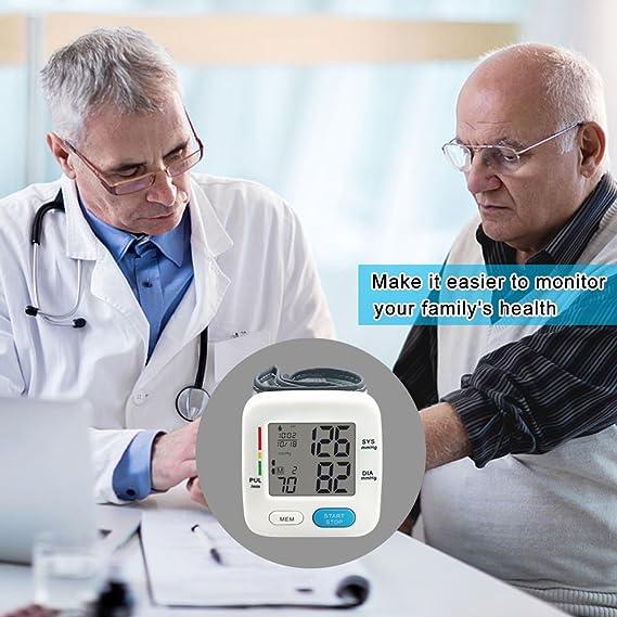 Signstek FDA - Tensiómetro electrónico de muñeca, dispositivo automático de presión arterial digital (clasificación OMS), 2 x 90 registros de memoria, ...