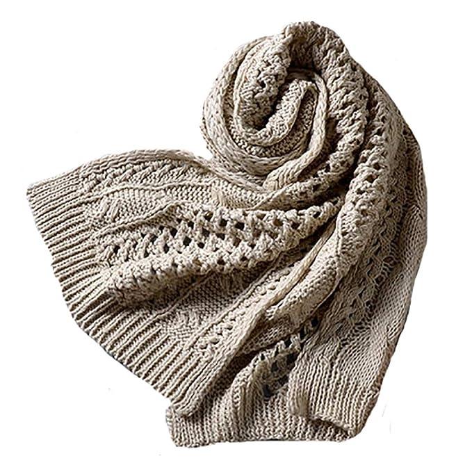 rivenditore di vendita 542d2 49b79 SLTO Scialle sciarpa calda in maglia invernale, sciarpa ...